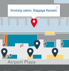 Smoking at Hamburg Airport HAM