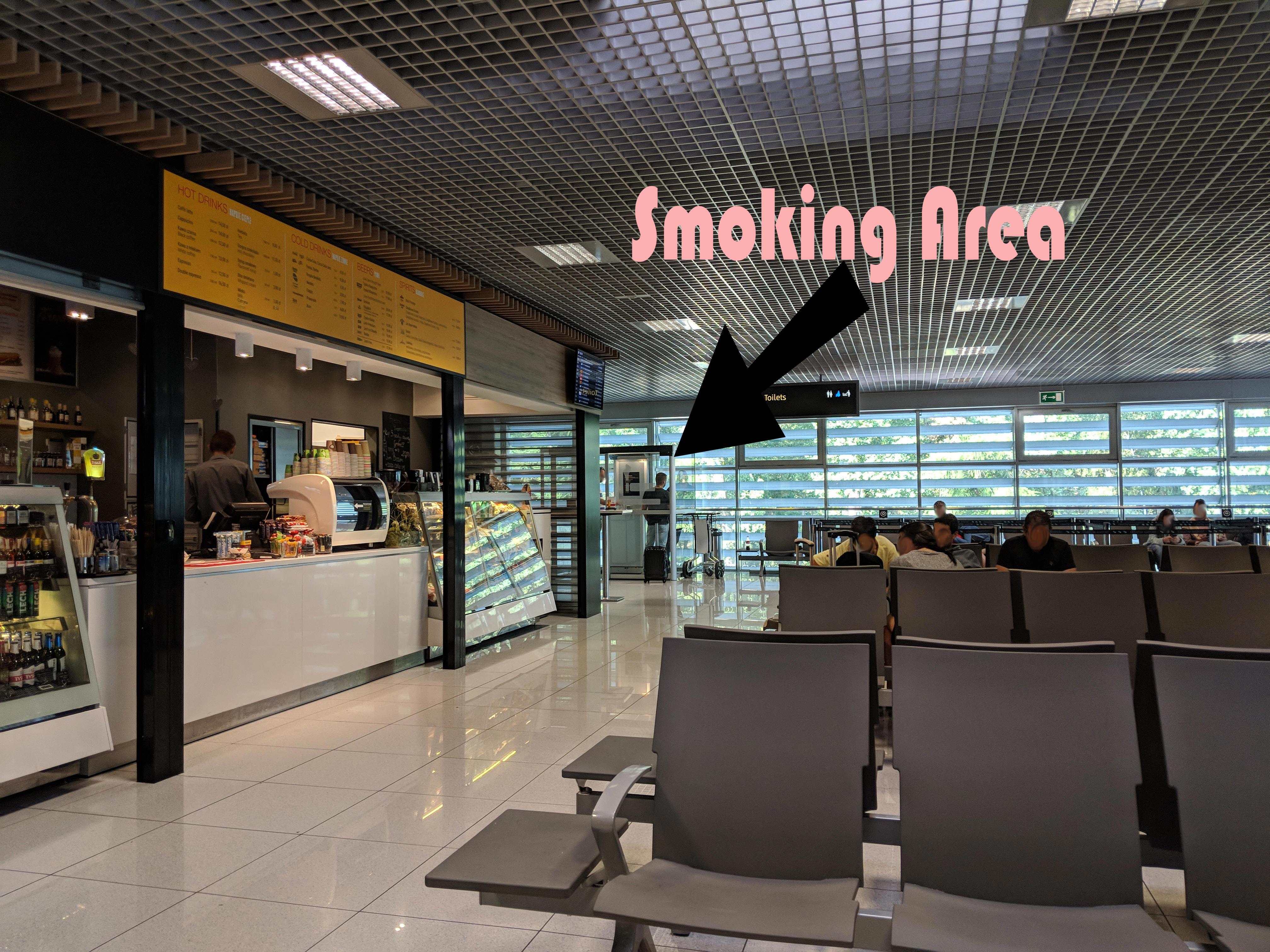 Smoking at Balice John Paul II International Airport Kraków