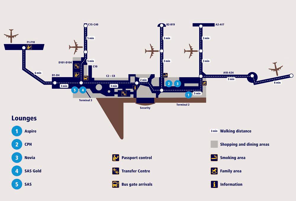 Copenhagen Airport Map Smoking at Kastrup, Copenhagen Airport (CPH)